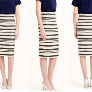 J.Crew Double Stripe Pencil Skirt